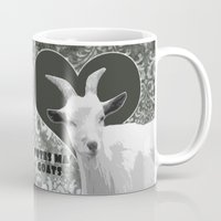 totes Mugs featuring Totes Ma Goats - Grey by BACK to THE ROOTS