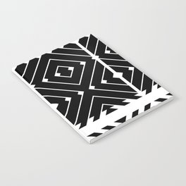 MONOCHROMA Geometrica : Black & White Box Pattern Notebook