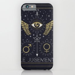Le Jugement or The Judgement Tarot iPhone Case