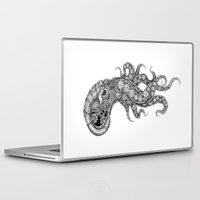clockwork Laptop & iPad Skins featuring clockwork octopus by vasodelirium
