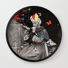 Smoking Woman Wall Clock