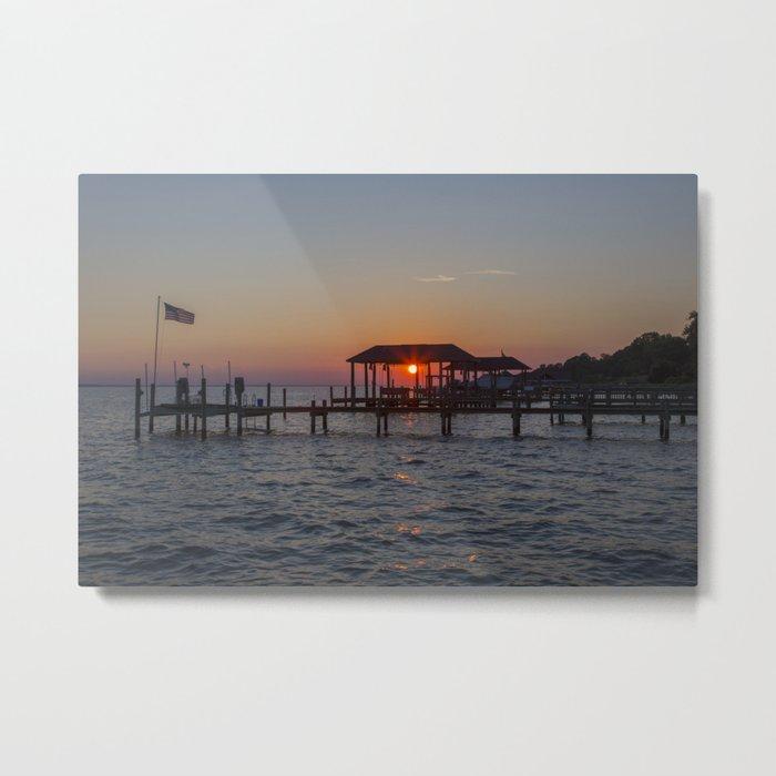Sunset on the James River Metal Print