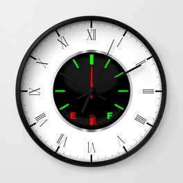 Half Full Gauge Wall Clock