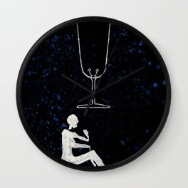 A Tarot of Ink 01 of Cups Wall Clock
