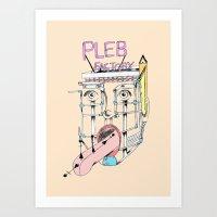 Pleb factory Art Print