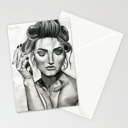 Model with Cigarette Stationery Cards