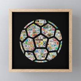 Dark Philately Soccer Ball Framed Mini Art Print