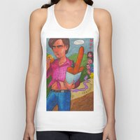 pixies Tank Tops featuring Belomor Boy Meets Pixies by Anna Gogoleva