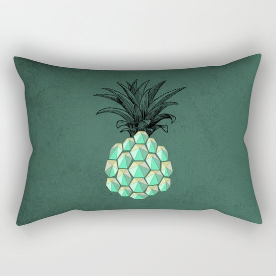 pineapple anatomy 4 Rectangular Pillow