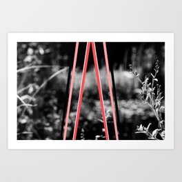 garden stripes Art Print