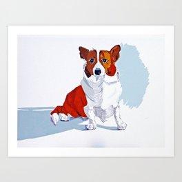 Corgi Dog Portrait Art Print