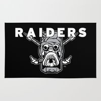 tomb raider Area & Throw Rugs featuring Tusken Raider Nation Pride by Captain_RibMan