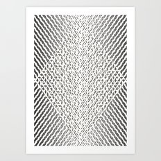 Stripes In Black & White Art Print