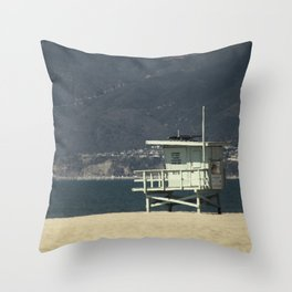 Baywatch Hut Throw Pillow