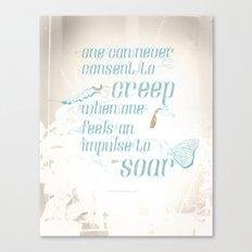 Soar - Illustrated quote of Helen Keller v3 Canvas Print