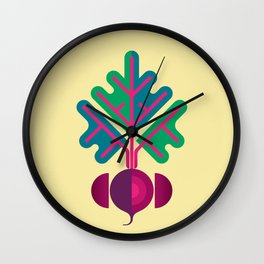 Vegetable: Beetroot Wall Clock