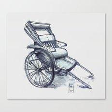 rickshaw japan Canvas Print