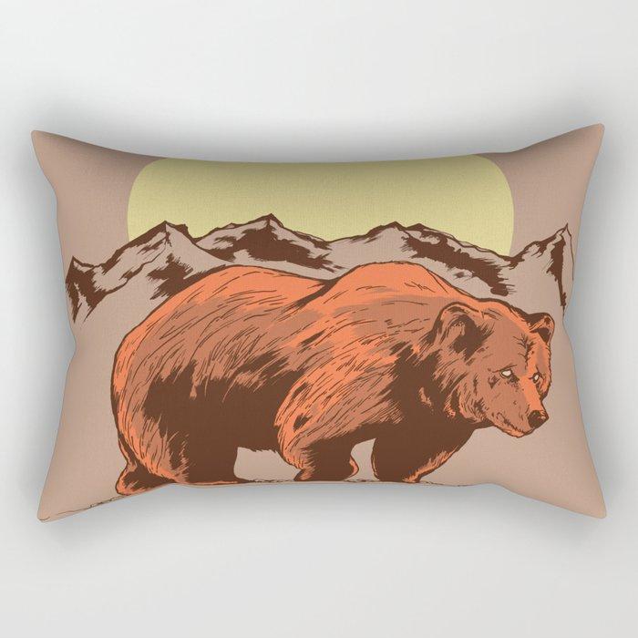 Bear and mountains Rectangular Pillow