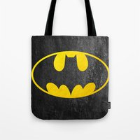 bat man Tote Bags featuring Bat man by S.Levis