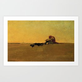 """Marooned"" Pirate Art by Howard Pyle Art Print"