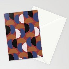 Half moon stripe multi Stationery Cards