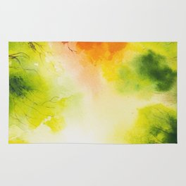 watercolor autumn trees Rug