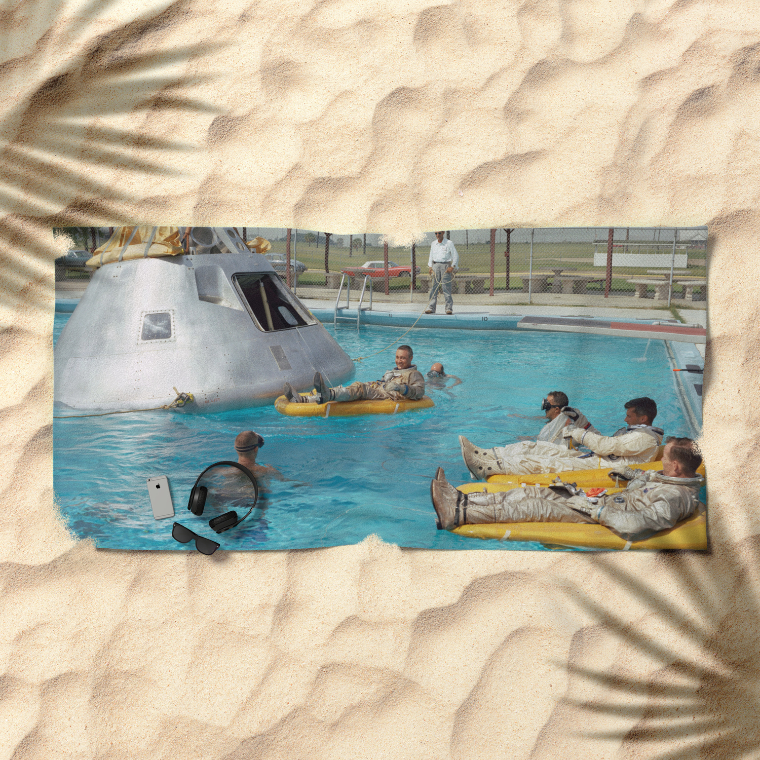 Apollo 1 - Relaxing by the Swimming Pool Beach Towel