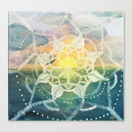 universes sunset Canvas Print