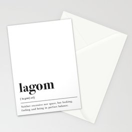 Lagom Definition Stationery Cards