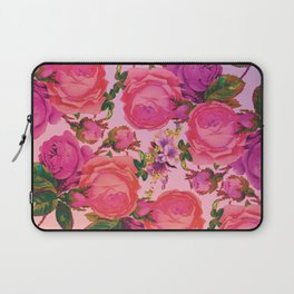 Sun Bleached Rose Print Laptop Sleeve