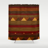 native american Shower Curtains featuring native. by kelmeloo