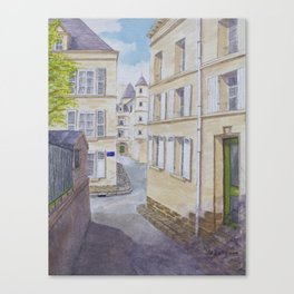 Narrow streets in Chinons old town (France) Canvas Print