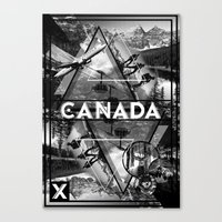 canada Canvas Prints featuring Canada by Sophie Bland