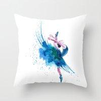 ballet Throw Pillows featuring Ballet by Zdenka Koskova