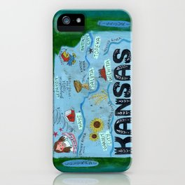 KANSAS map iPhone Case