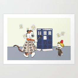 Playing Doctor and Daleks Art Print