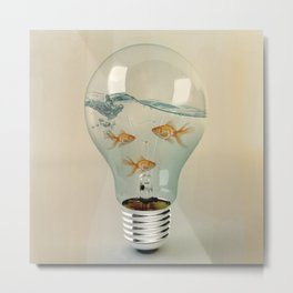 ideas and goldfish 03 Metal Print