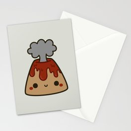 Cute volcano Stationery Cards