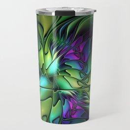 Colorful And Abstract Fractal Fantasy Travel Mug