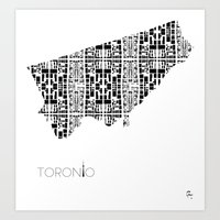 City of Pattern: Toronto Art Print