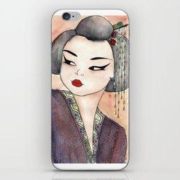 apricot geisha ~ ფორთოხლის გეიშა iPhone Skin
