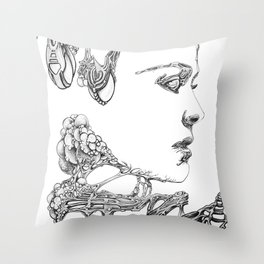 Organic Pearls Throw Pillow