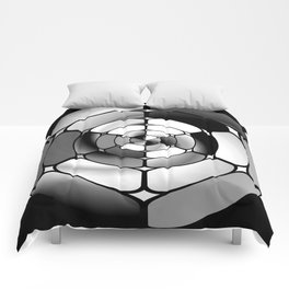 Chromed black and white Comforters