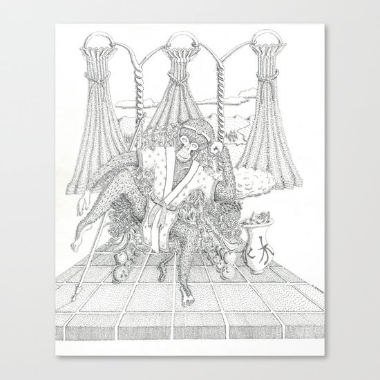 The Monkey King on his Throne Canvas Print