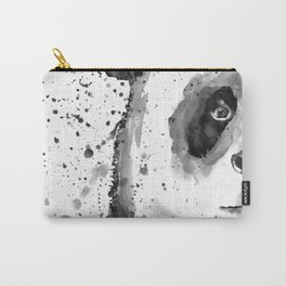 Black And White Half Faced Panda Carry-All Pouch