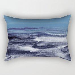 watercolor landscape - blue Rectangular Pillow
