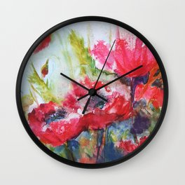 Poppies 06 Wall Clock