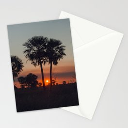 Palmas al atardecer Stationery Cards
