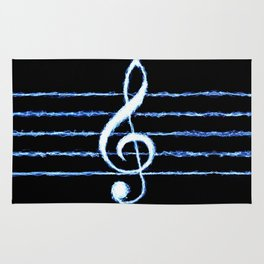 Treble Clef Lightning *revised Rug