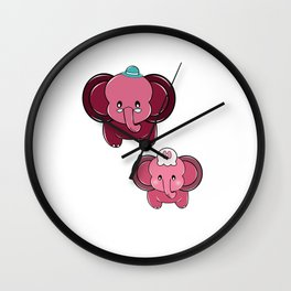 Plumpy Family Wall Clock